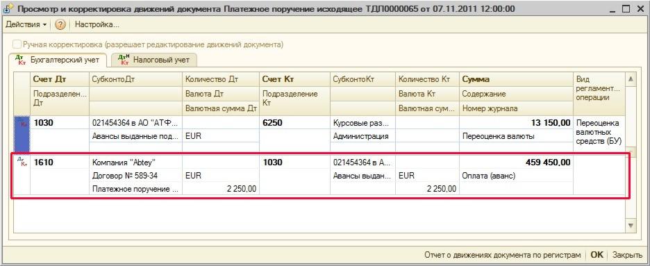 оплата курсовой разницы